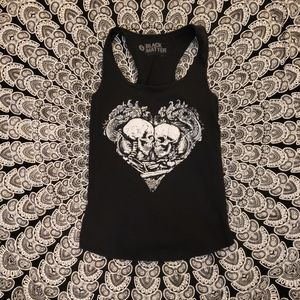 Black Matters Black Skeleton Hearts Muscle Tank